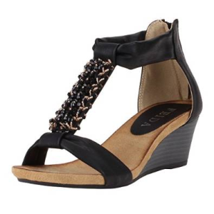 sandaletten mit keilabsatz g nstige sandaletten mit. Black Bedroom Furniture Sets. Home Design Ideas
